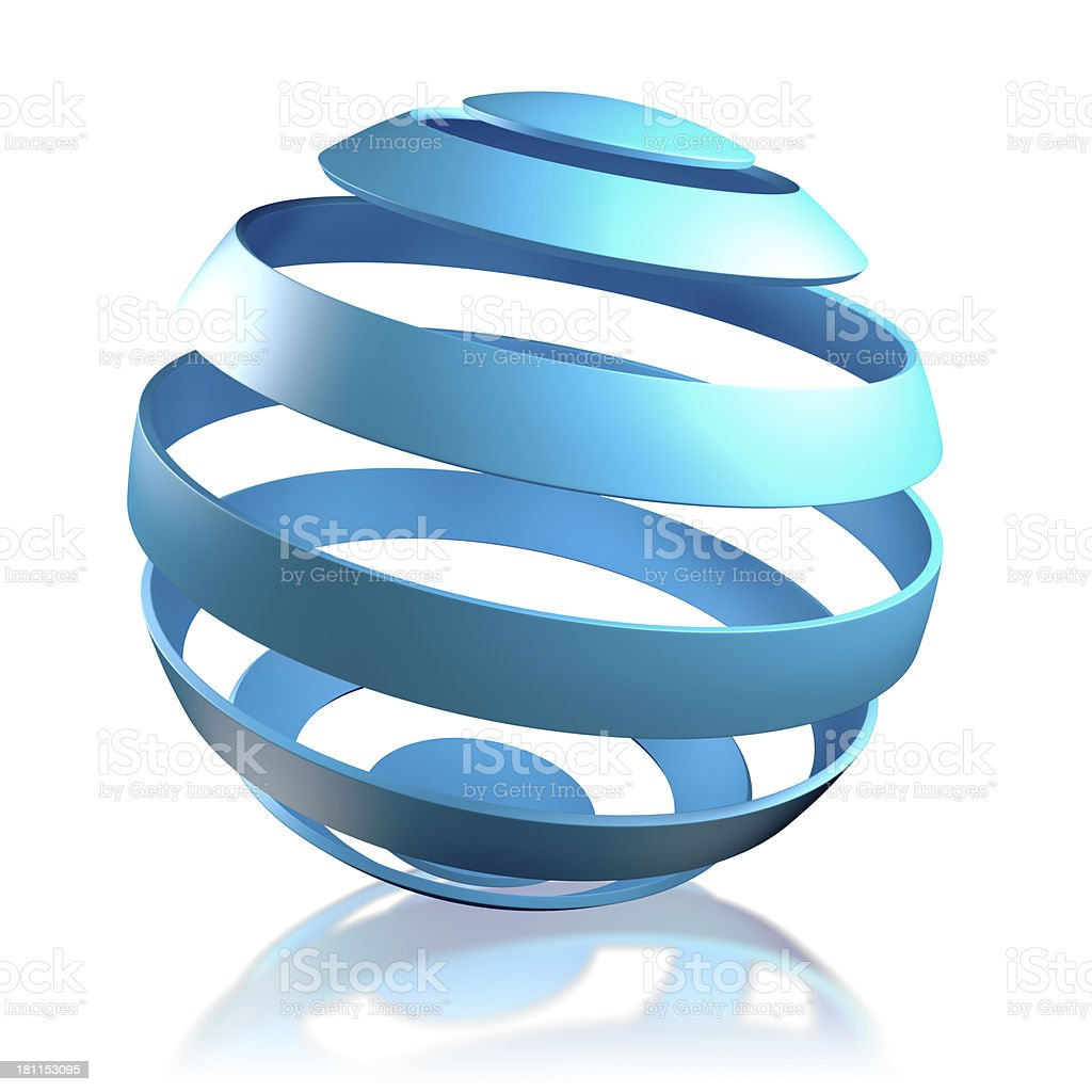 World concept - Globe in strips, isolated with clipping path royalty-free stock photo