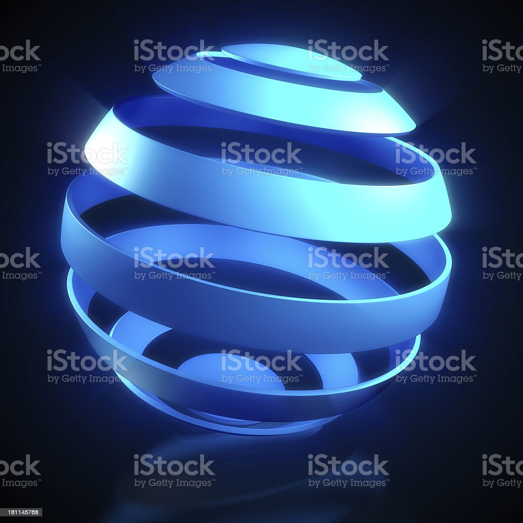 World concept - Globe in strips on black royalty-free stock photo