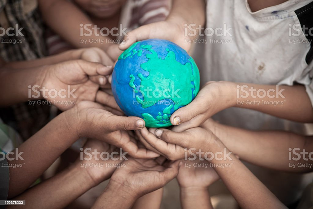 World connection concept stock photo