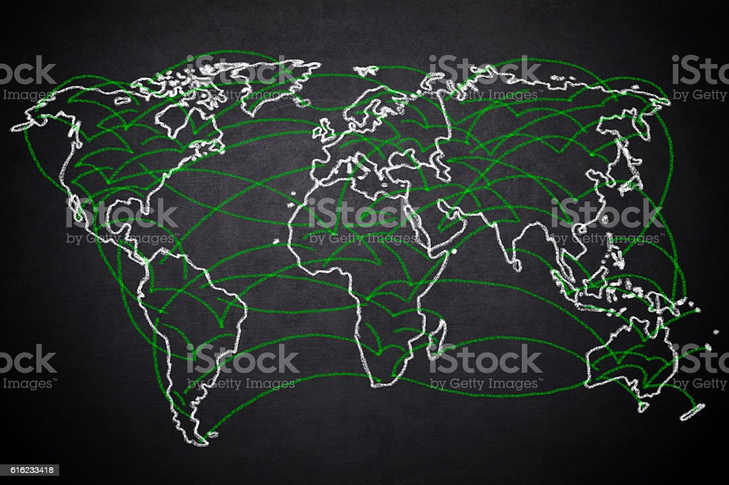 World Connection stock photo