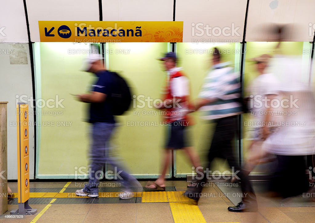 World Cup 2014: Going to the Maracana stock photo