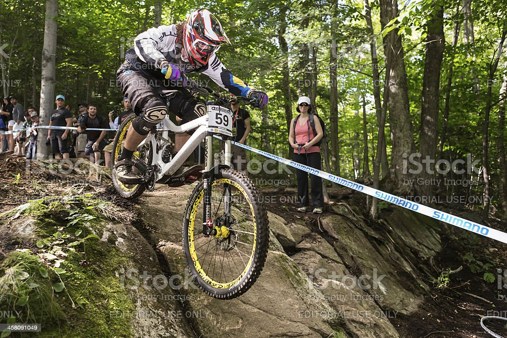 UCI World Cup Downhill 2013, Mont Ste-Anne, Quebec, Canada royalty-free stock photo