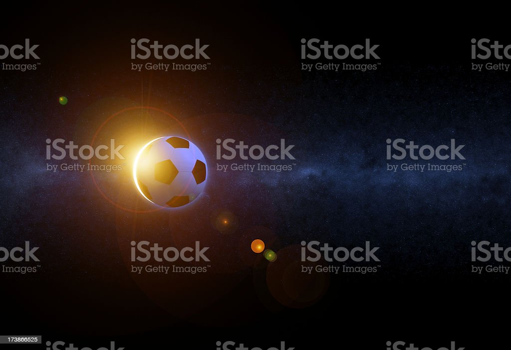 World Cup Fever - Soccer Eclipse stock photo