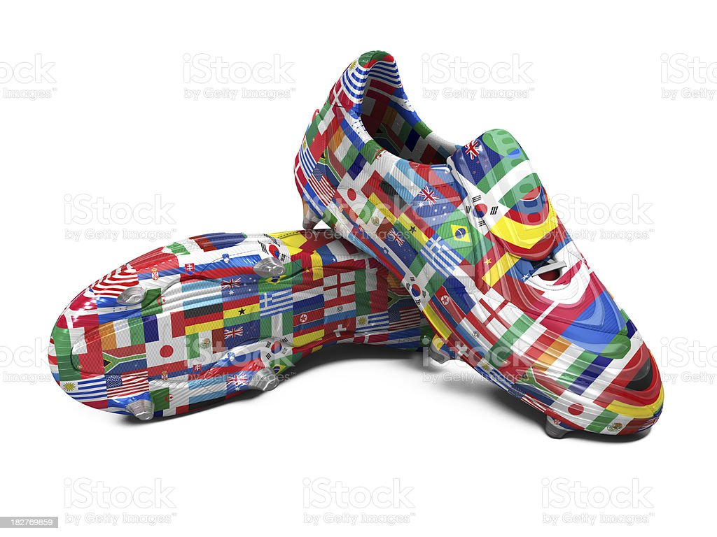 World Cup Football Boots royalty-free stock photo