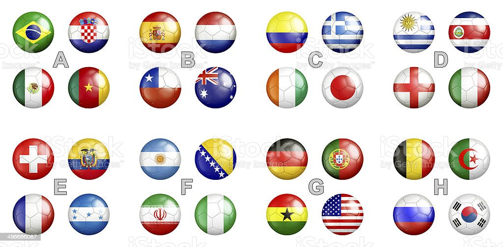 world cup groups stock photo