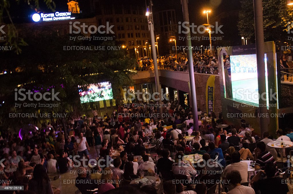 World Cup in Budapest stock photo