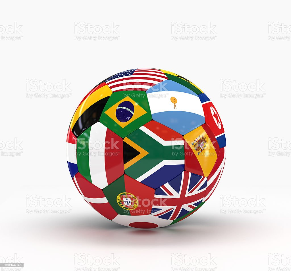 World Cup in South Africa with International Flags stock photo