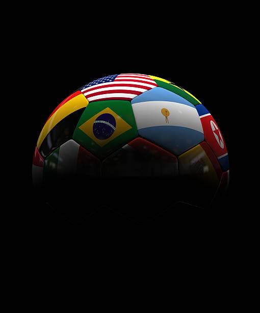 world cup in south africa with international flags - football portugal flag bildbanksfoton och bilder
