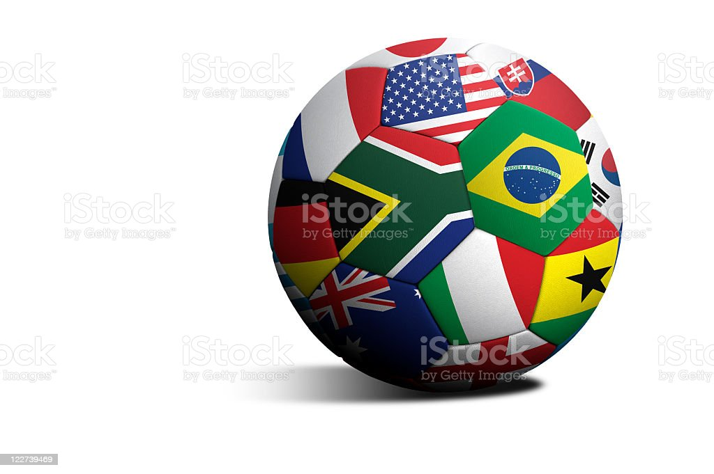 World cup soccer ball stock photo