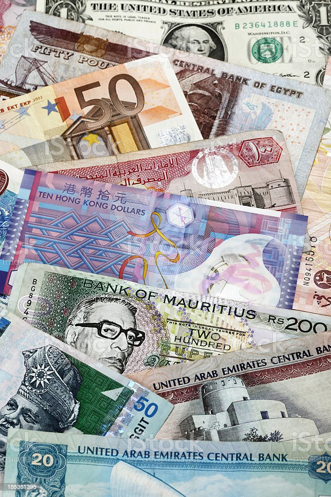 World Currencies stock photo