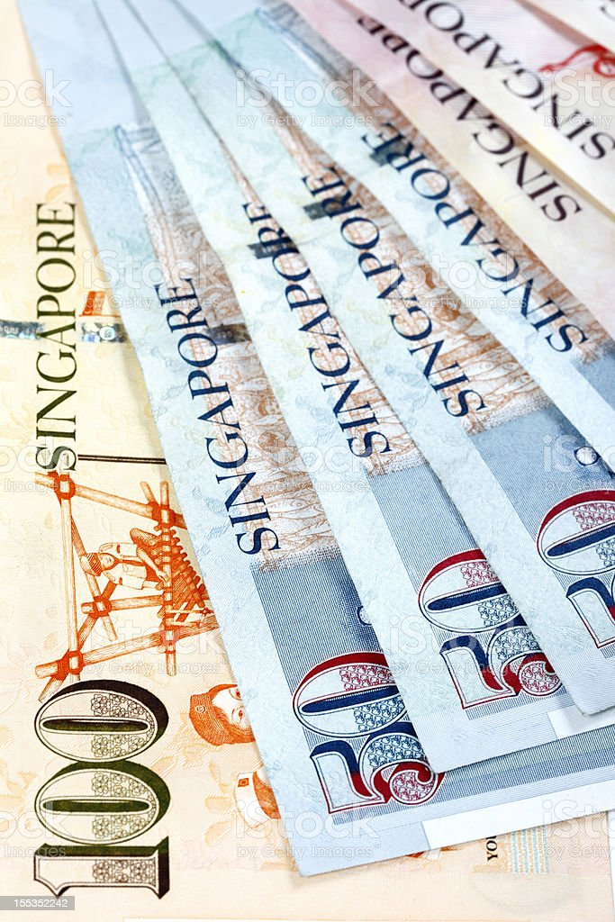 World Currencies. Singapore Dollars royalty-free stock photo