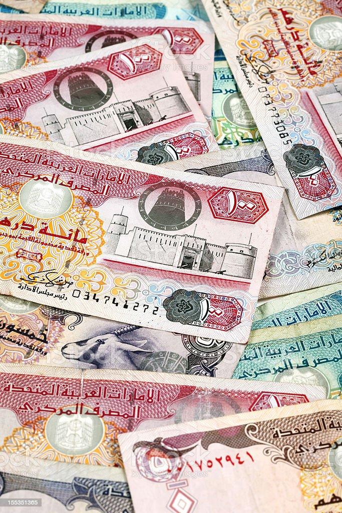 World Currencies. United Arab Emirates Dirham stock photo