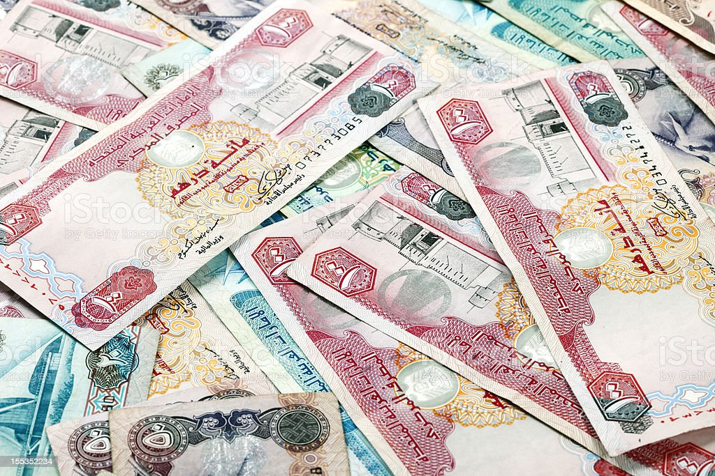 World Currencies. United Arab Emirates Dirham royalty-free stock photo