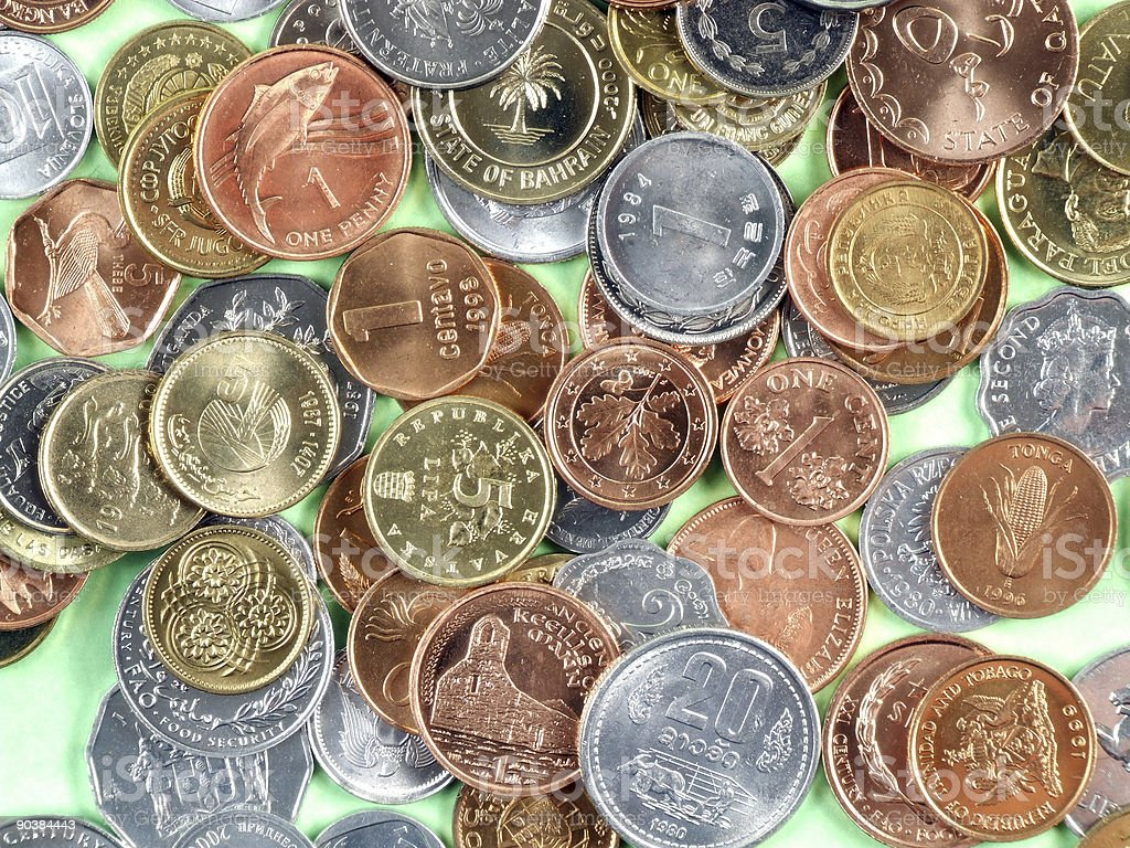 World currency coins royalty-free stock photo