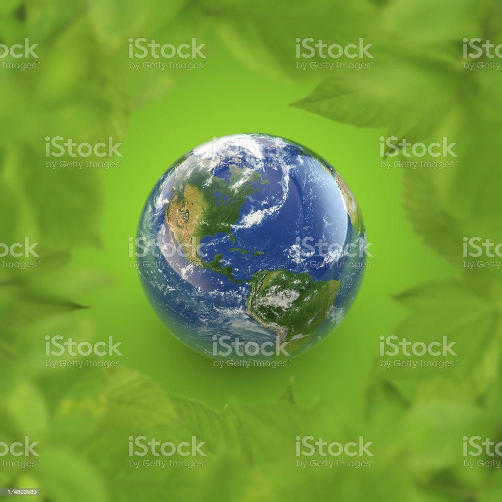 World ecology concept royalty-free stock photo