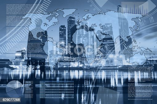 istock world economics and global trading, abstract infographics 629077268