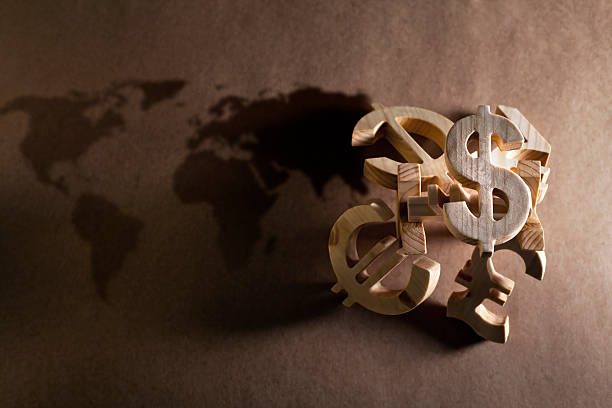 world economy and currency units - exchange rate stock pictures, royalty-free photos & images