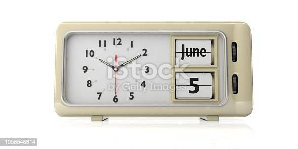 istock World environment day celebration date on old retro alarm clock, white background, isolated, 3d illustration. 1058546614