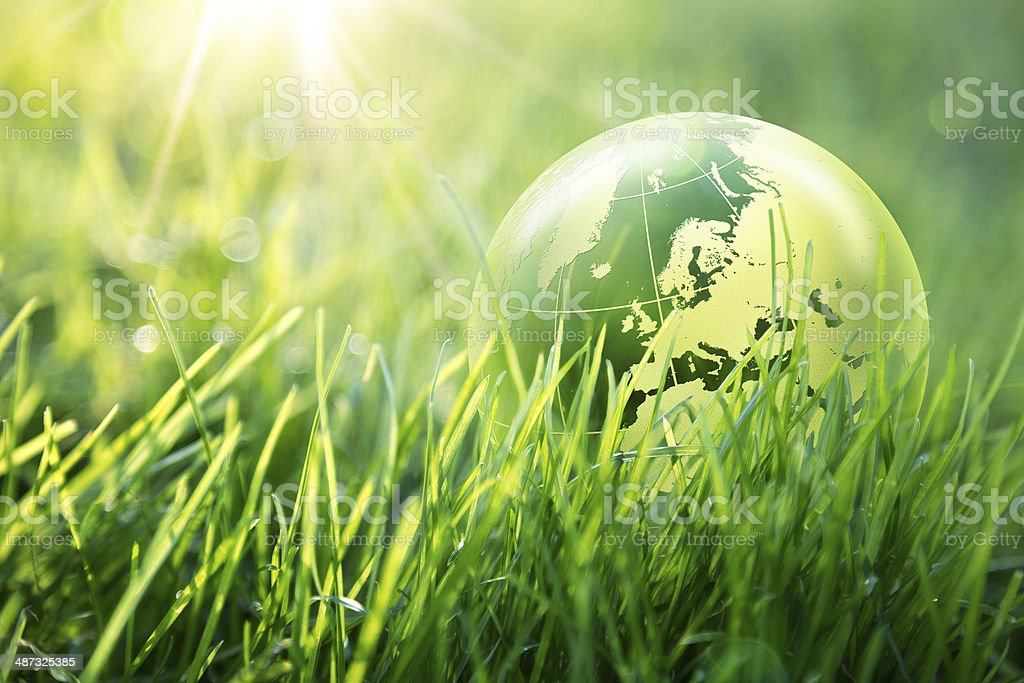 world environmental concept - Europe stock photo