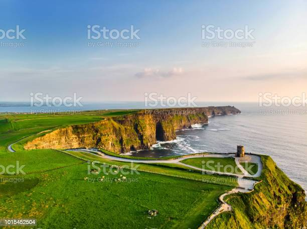 Photo of World famous Cliffs of Moher, one of the most popular tourist destinations in Ireland.