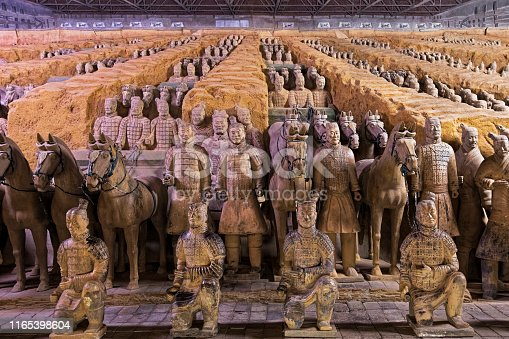 istock World famous Terracotta Army located in Xian China 1165398604