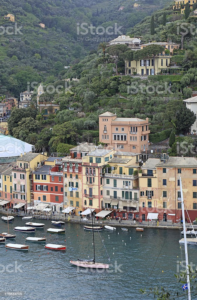 World famous village Portofino, Italy royalty-free stock photo