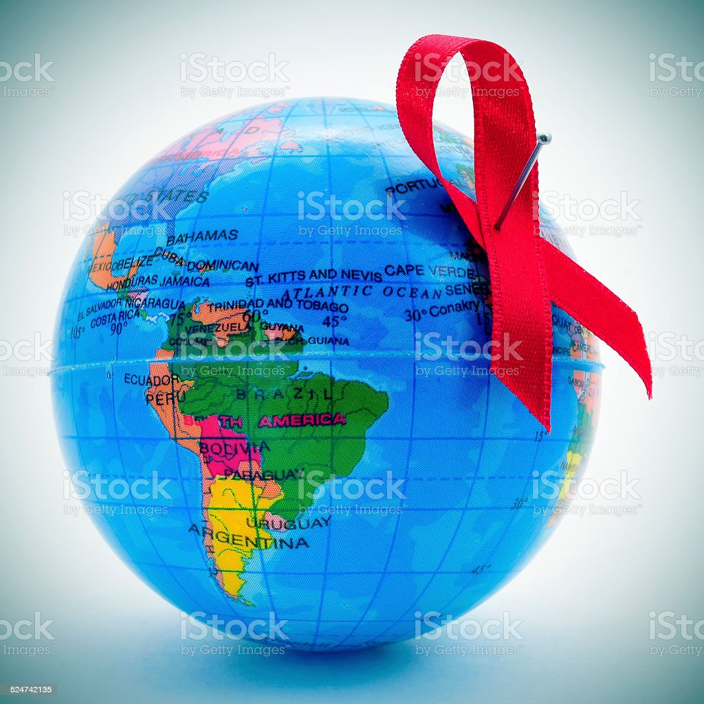 world fight against AIDS stock photo