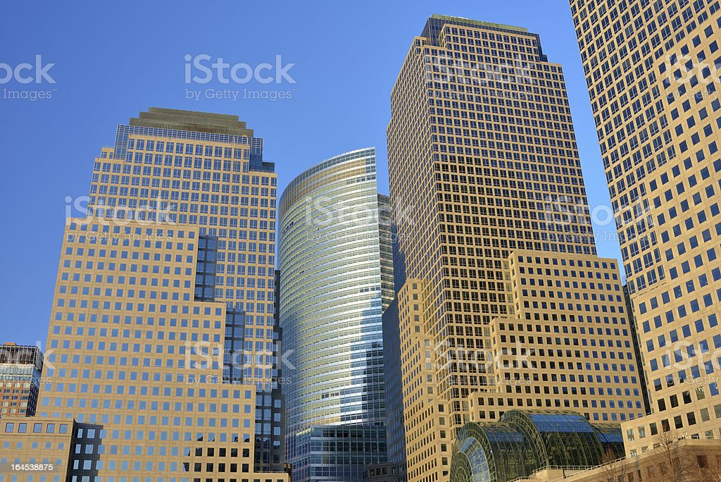 World Financial Center in Lower Manhattan royalty-free stock photo