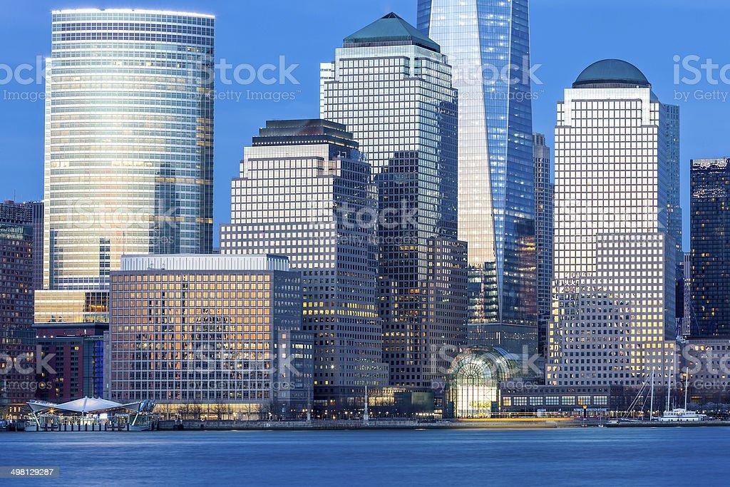 World Financial Center of Manhattan, New York City royalty-free stock photo