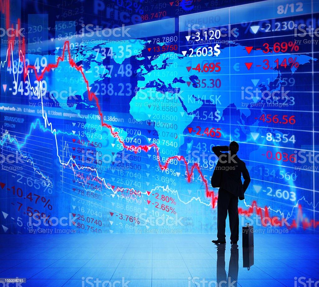 World Financial Crisis. royalty-free stock photo