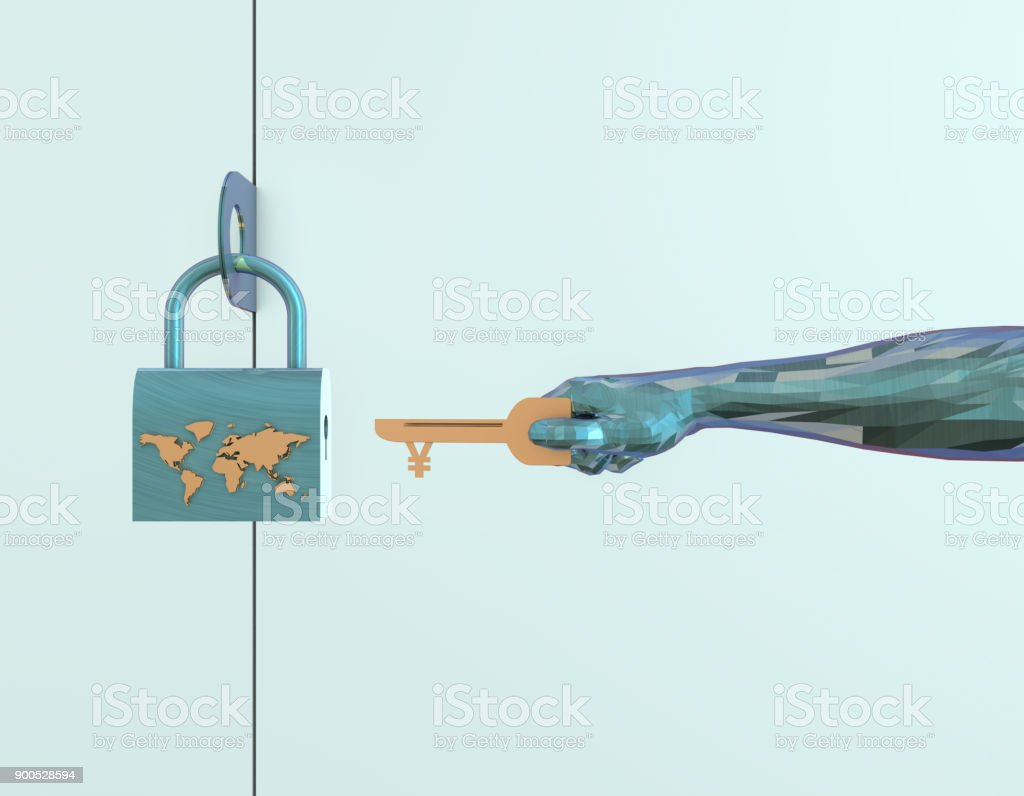 3D illustration, said the world economy and national wealth, can be...