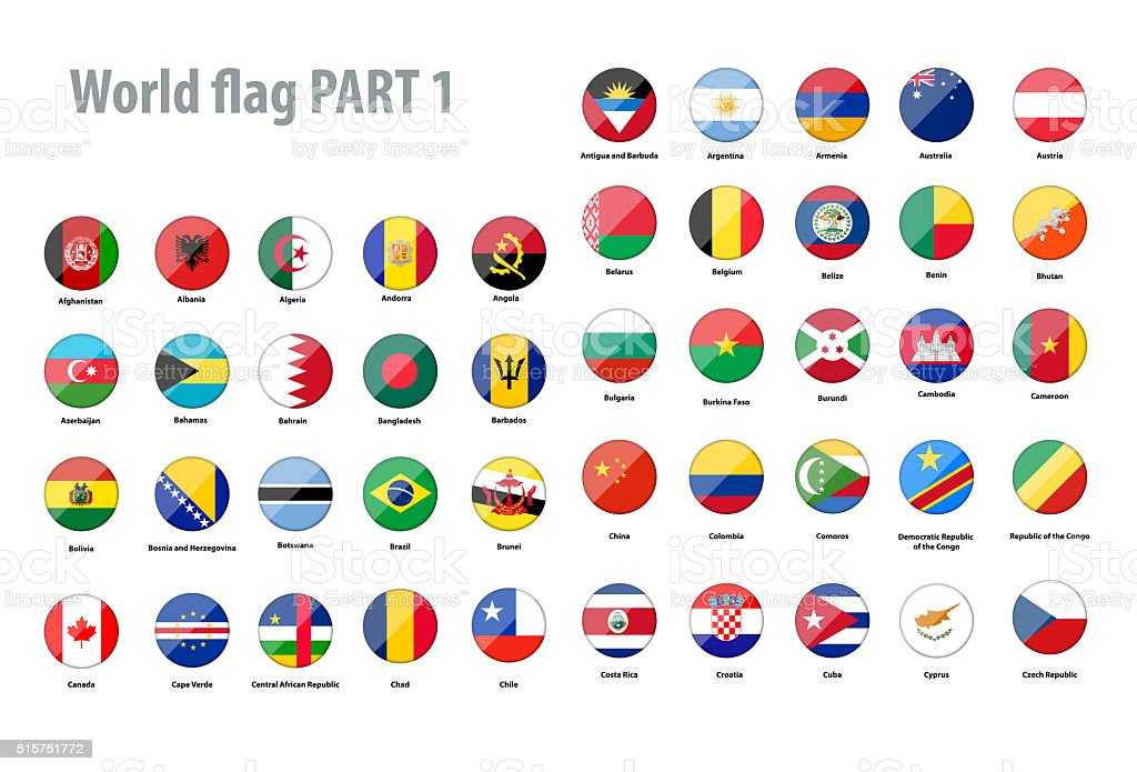 World flags collection stock photo