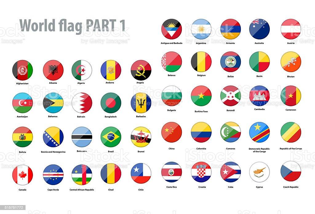 Mundo Banderas colección - foto de stock