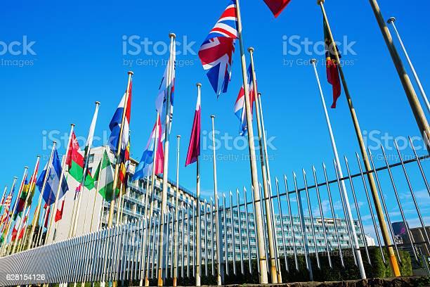 World flags in front of unesco headquarters in paris france picture id628154126?b=1&k=6&m=628154126&s=612x612&h=f7hrb76x0wa3d wierdgz7euhgz0u9zfzdfdif9l4ra=