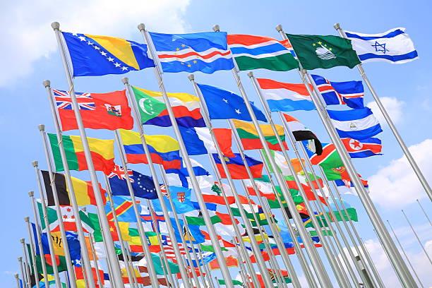 Mundo flags - foto de stock