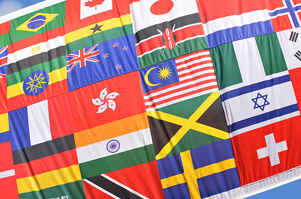 World flags Diversity concept with world flags background national flag stock pictures, royalty-free photos & images