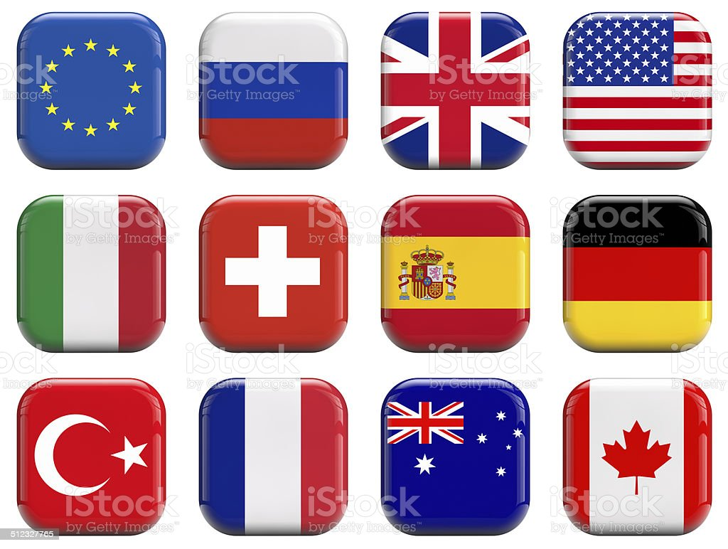 World flags stock photo