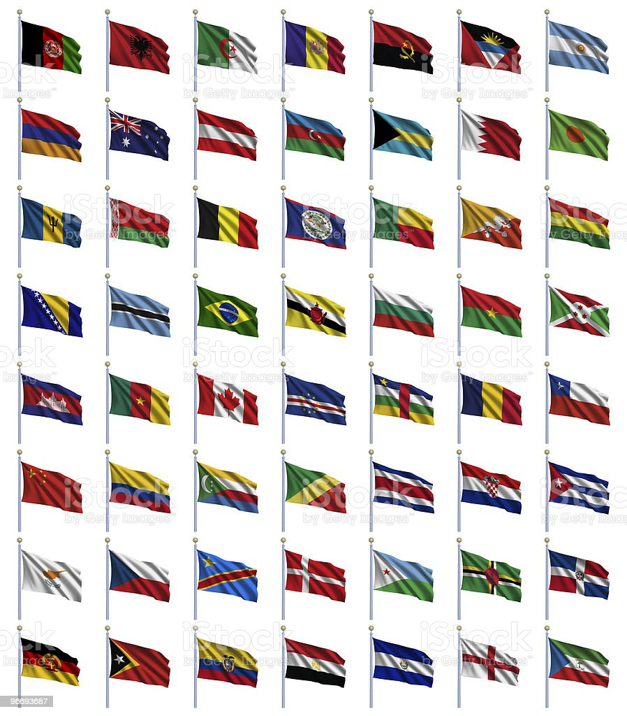 World Flags royalty-free stock photo