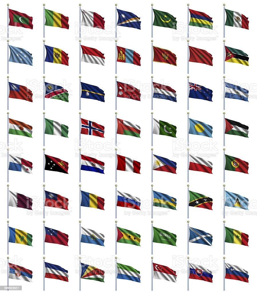 World Flags Set 3 of 4 royalty-free stock photo
