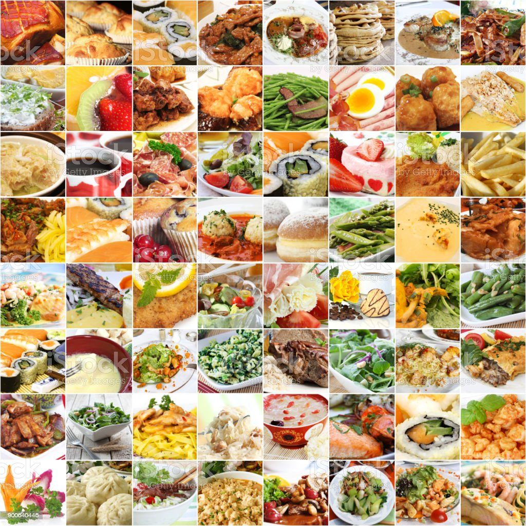 World food and drinks collage
