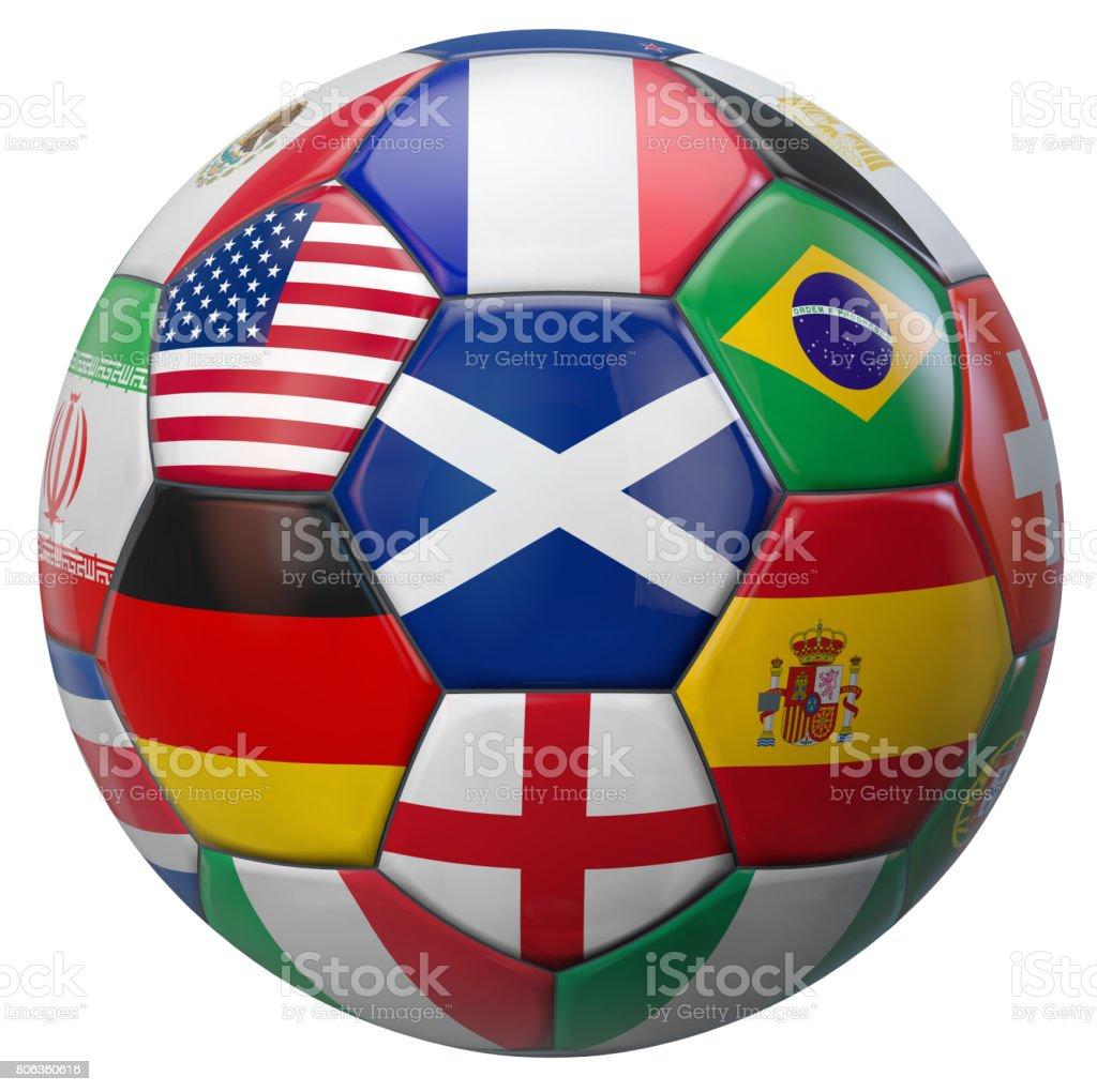World Football Scotland stock photo
