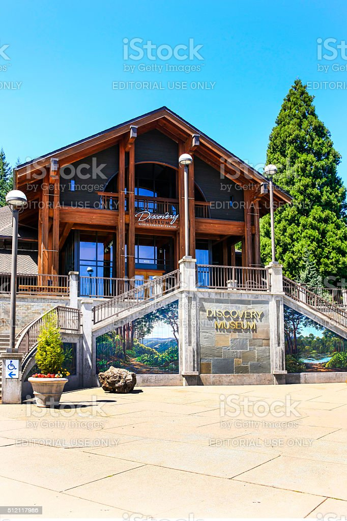 World Forestry Discovery Museum in Washington park, Portland Oregon stock photo