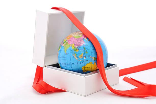 world gift stock photo