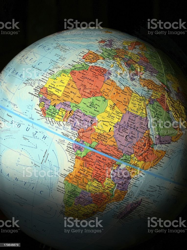 World Globe: Africa stock photo