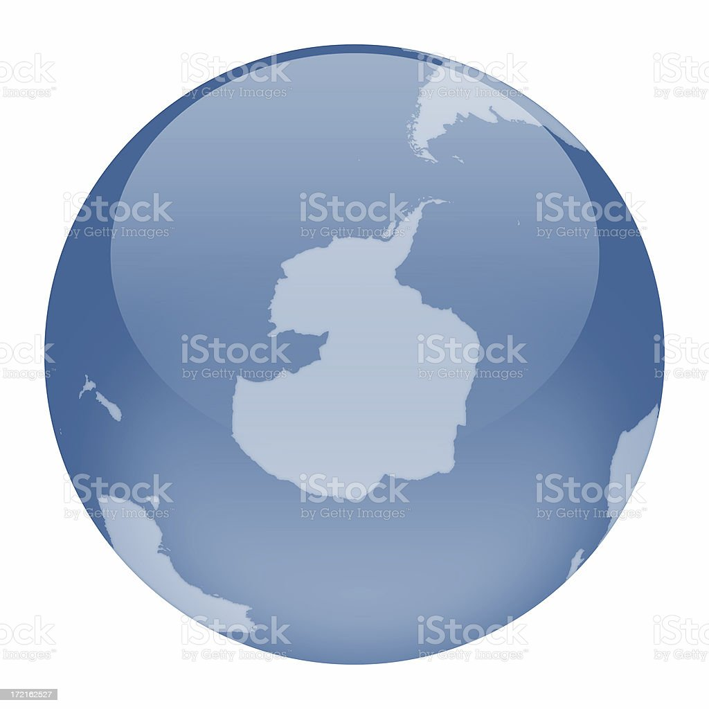 World Globe - Antarctica Focus royalty-free stock photo