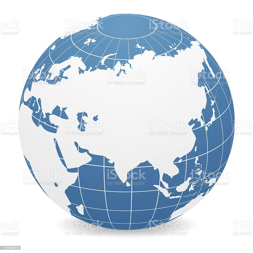 world globe asia royalty free stock photo