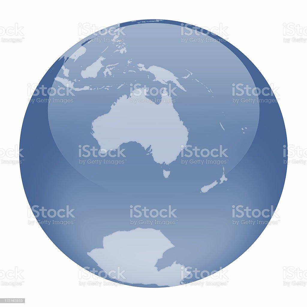 World globe australia focus stock photo more pictures of world globe australia focus royalty free stock photo gumiabroncs Choice Image