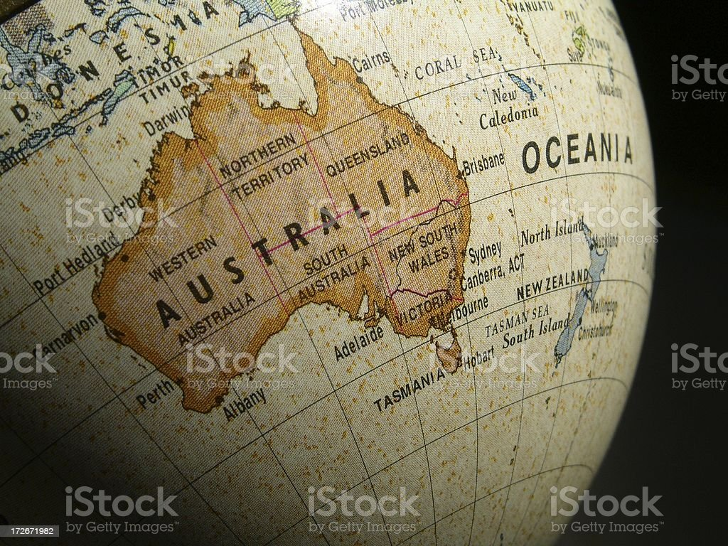 World Globe: Australia royalty-free stock photo