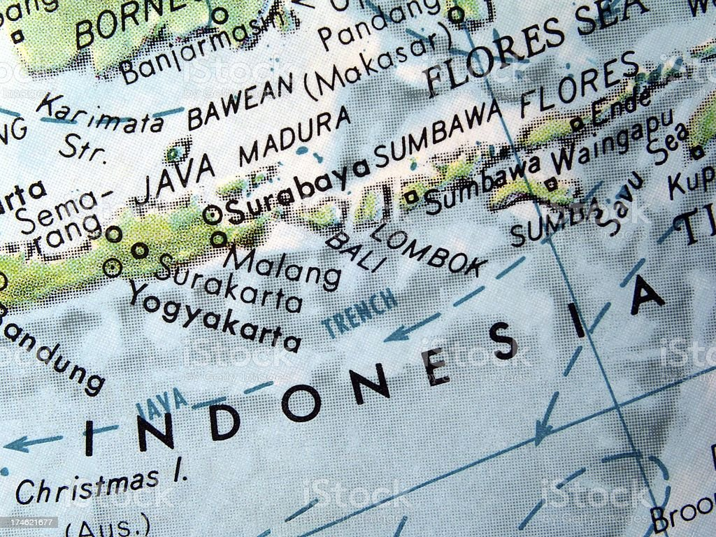 World Globe: Bali stock photo