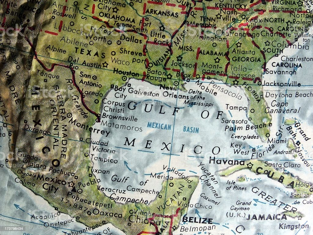 World Globe: Gulf Of Mexico stock photo